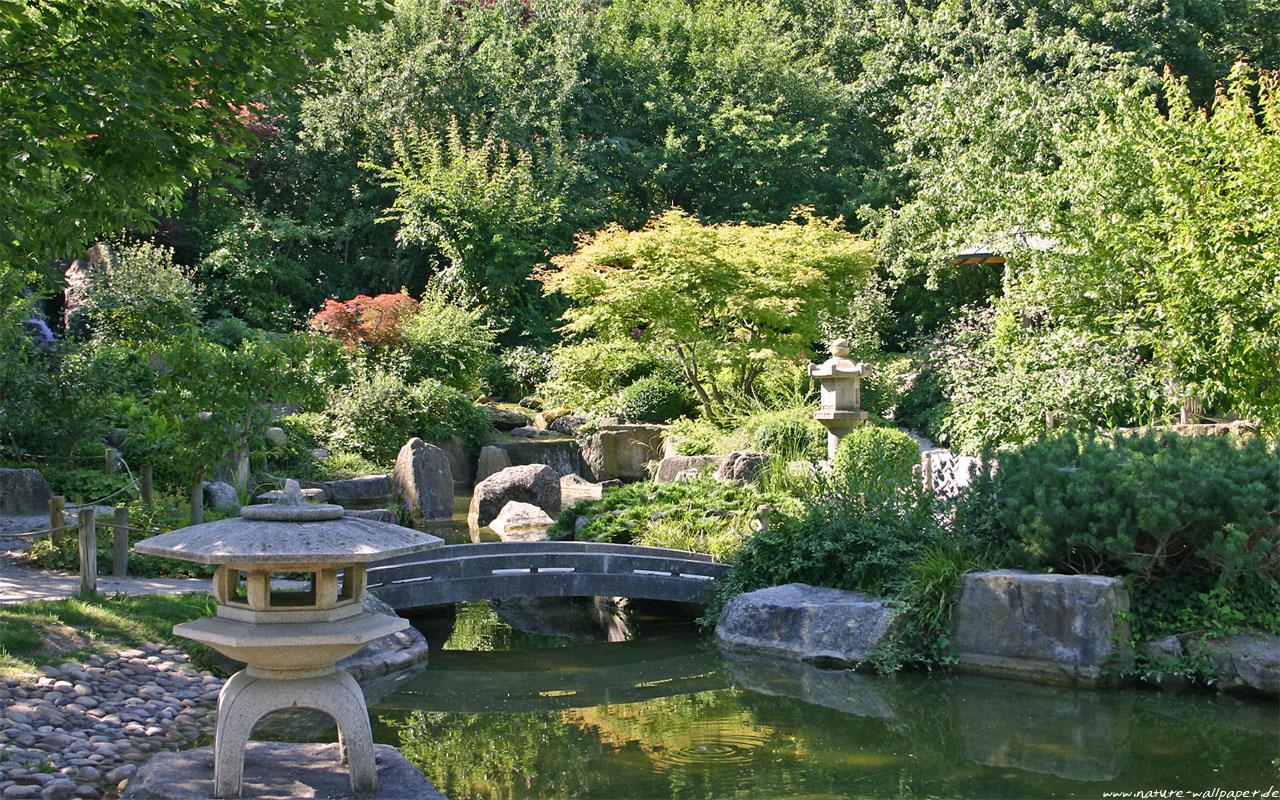 herbst im japanischen garten wallpaper – gartenhaus bauen, Garten ideen